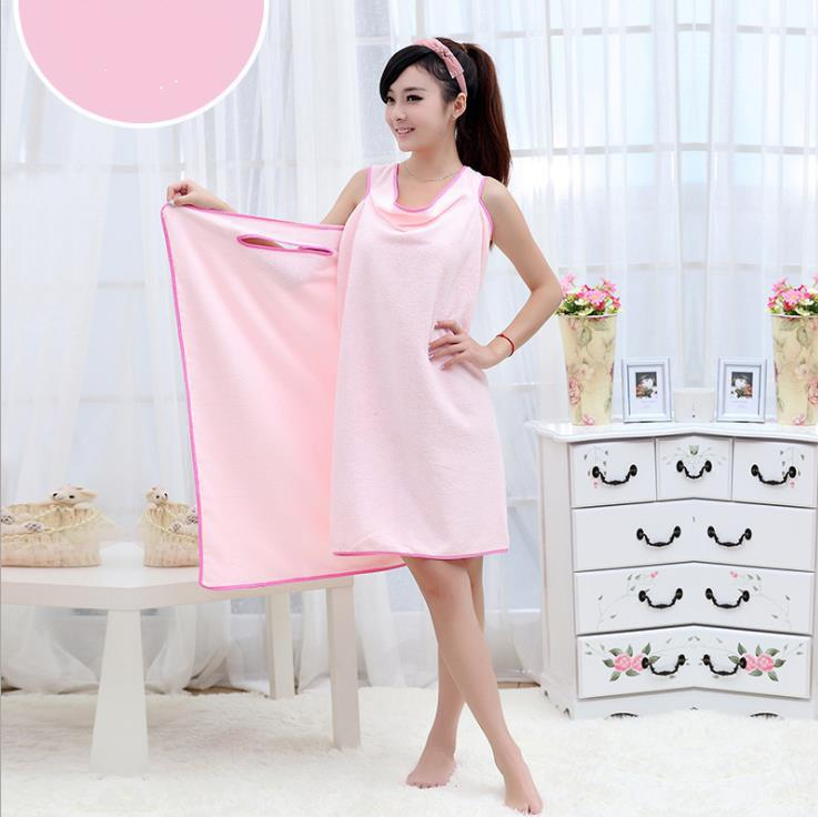 6c5097d3be 80*145cm Women Bath Towel Wearable Microfiber Fabric Wash Clothing Soft  Wrap Skirt Towels Absorbent Home Textile Beach Dress Beach Towels Sale  Large Bath ...