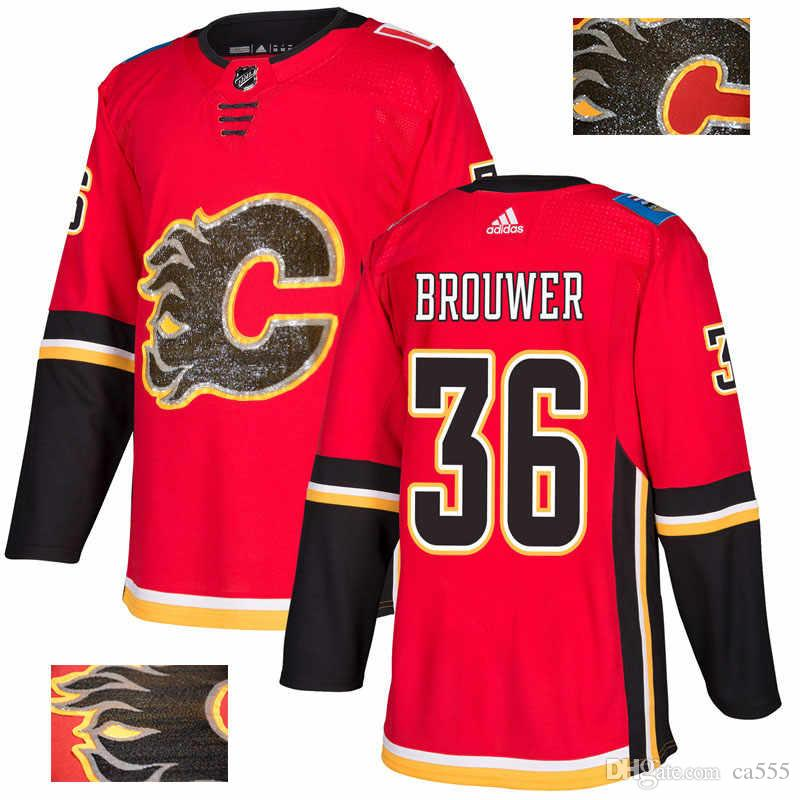 differently c23d3 455ea 2019 Men s Johnny Gaudreau NHL Hockey Jerseys TJ Brodie Winter Classic  Custom ice hockey Authentic jersey All Stitched 2019 Branded blank