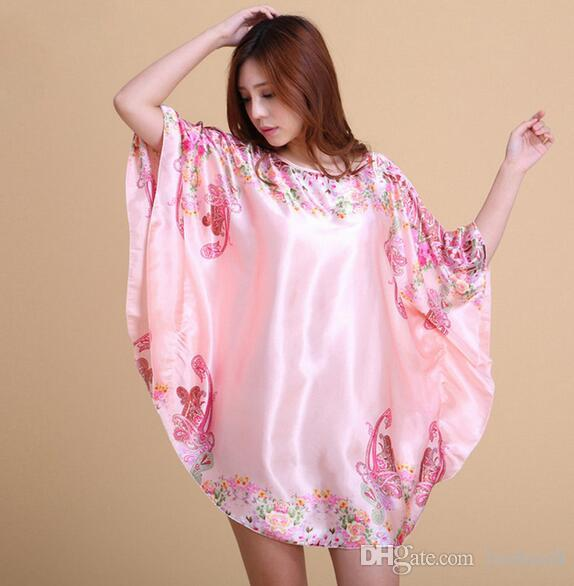 Explosion Models Simulation Silk Sexy Pajamas Ladies Summer Short Sleeved  Nightdress Female Summer Large Size Home Service M1 UK 2019 From Luohua8 628ec953c