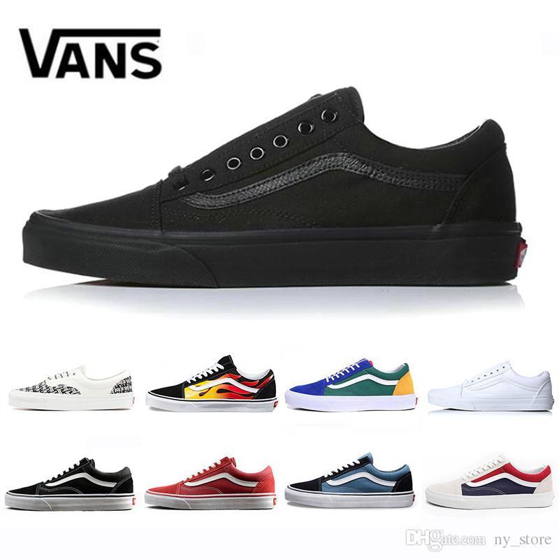 b8103c1a3c9 Compre Marca Original Vans Old Skool Medo De Deus Homens Mulheres Lona Tênis  Preto Branco YACHT CLUB Vermelho Azul Moda Skate Sapatos Casuais De  Ny store