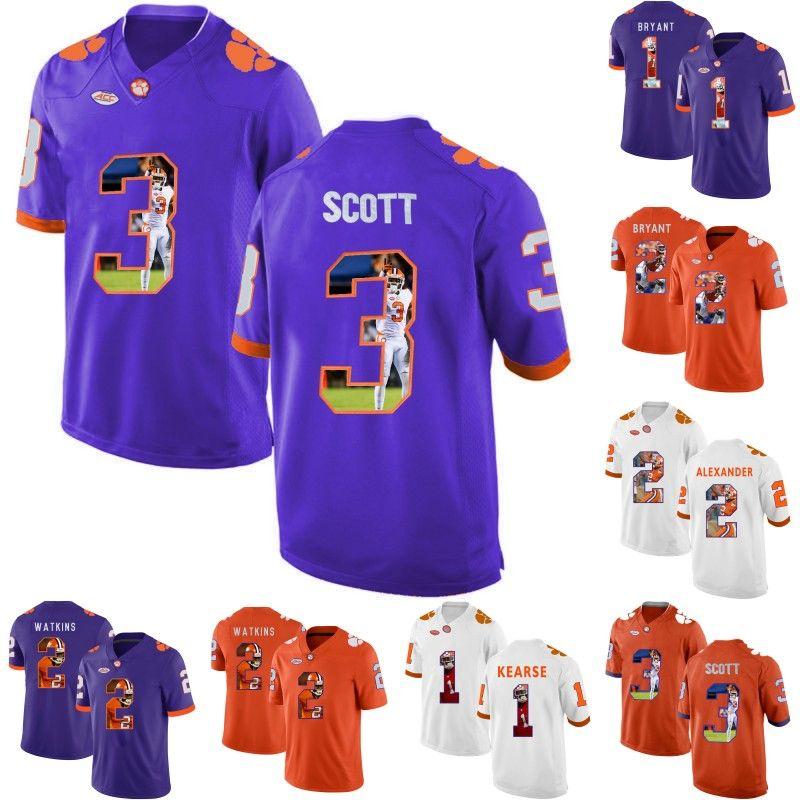 new style a0a83 fc399 MenS Clemson Tigers 1 Martavis Bryant 1 Jayron Kearse 2 Sammy Watkins 2  Kelly Bryant 3 Artavis Scott College Football Jerseys