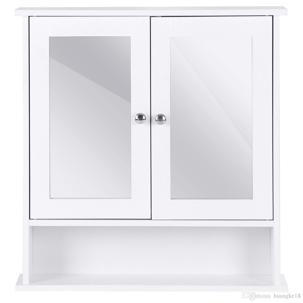 Compre Nuevo Gabinete De Pared Para Baño Espejo Doble Puerta Armario
