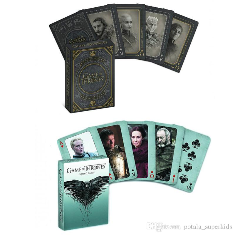 3types Game of Thrones poker set playing card stage photo song of fire and ice playing cards products novelty poker sets present cosplay