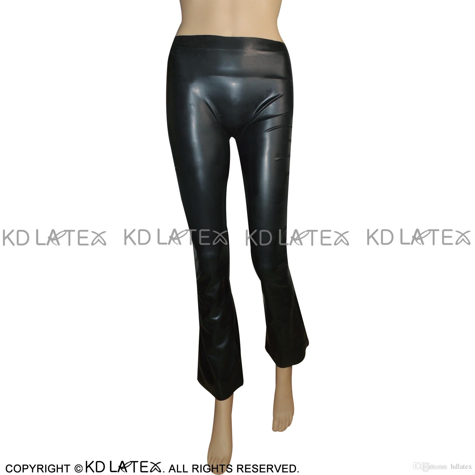 Compre Leggings De Látex Sexy Negro Con Piernas Acampanadas Pantalones De  Goma Campana De Fondo Pantalones Tallas Grandes Ventas Calientes 0021 A   84.71 Del ... 39336b3b643