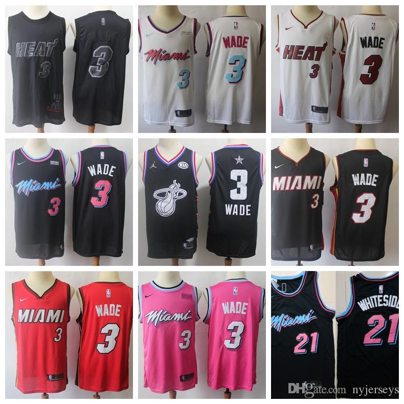 wholesale dealer 76558 46520 Men Miami Wade Heat jersey Goran Dragic Dwyane Basketball Jerseys Hassan  Whiteside