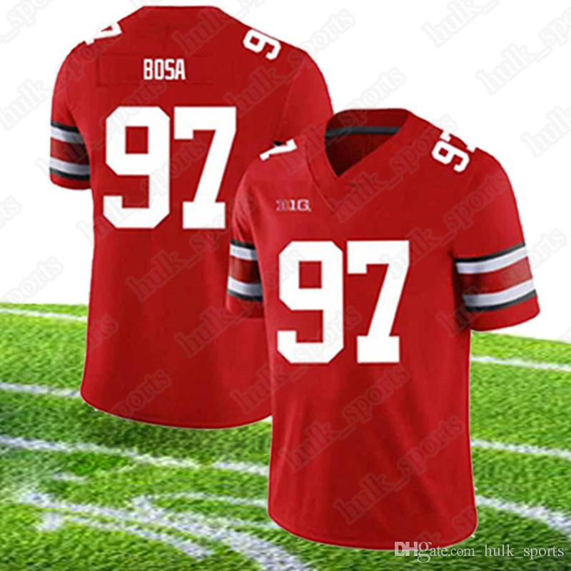 pretty nice 9080b 98922 NCAA Ohio State Buckeyes jerseys 97 Nick Bosa jersey 7 Dwayne Haskins Jr  2019 new hot sell jerseys