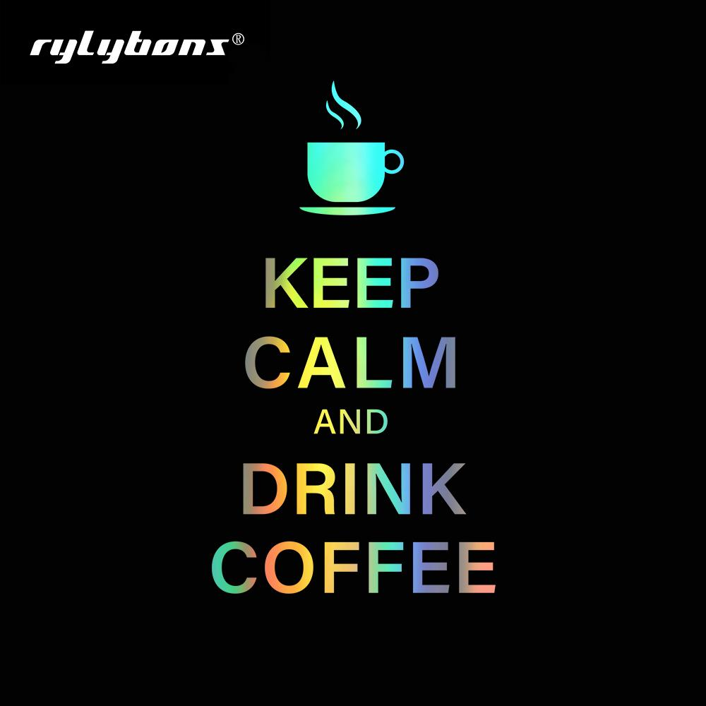 10.7x15.1cm Keep Calm And Drink Coffee Car Stickers and Decals for Auto Products Window Vinyl Car Sticker Accessories