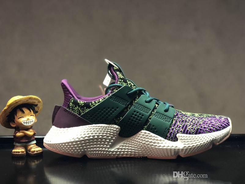 2583724c6eadf Mens Women Dragon Ball Z X Prophere Cell Shoes Prophere Climacool Green  Purple White Shoes For Sale Boat Shoes For Men Navy Shoes From Luishen21