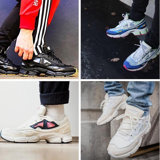 03 Wholesale - Raf Simons x Sneakers Shoes Womens Men Consortium Ozweego 2 Outdoor Casual Shoes 5-11 Free Shipping