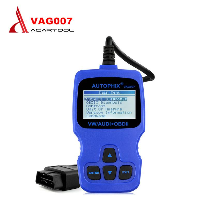 Original Autophix VAG007 for VAG 007 Oil Reset/TP Position Check/Brake Pad  Reset Function OBD2 Code Reader Scanner free Shipping