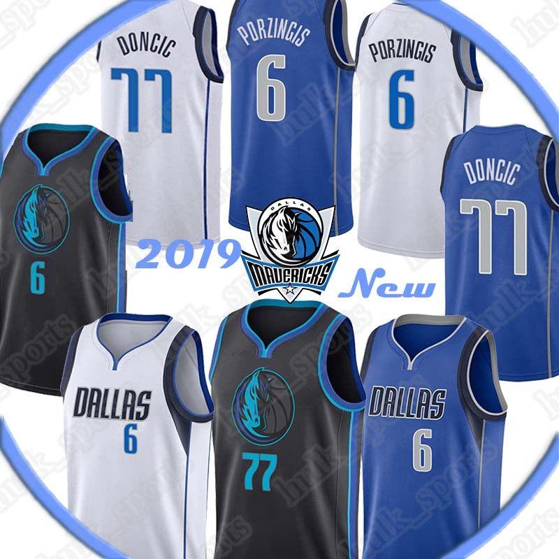 official photos d9a45 1c76a DALLAS Dirk 41 Nowitzki jersey MAVERICKS Luka 77 Doncic jerseys Kristaps 6  Porzingis Basketball Jerseys top quality