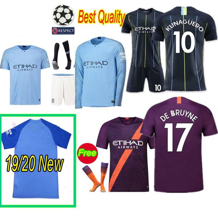 low priced 04bd2 ff20b Thailand Manchester City soccer jerseys SANE jersey 18 19 football Top city  shirt adult long soccer jerseys 2019 2020 Football Jerseys Shirt