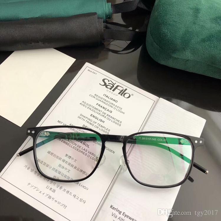 05dffe05e Compre Mais Recente Marca De Qualidade GG8002 CXS Óculos Super Luz Prancha  Pura Quadrado Unisex Frame55 17 145prescription Óculos Caso Full Set OEM  Outlet ...