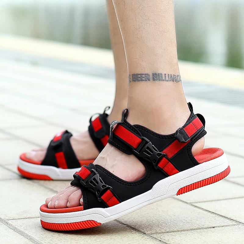 2019 Summer New Thick-soled Sandals Men's Trend Korean Sports Fashion Personality Men's Wild Beach Shoes Students