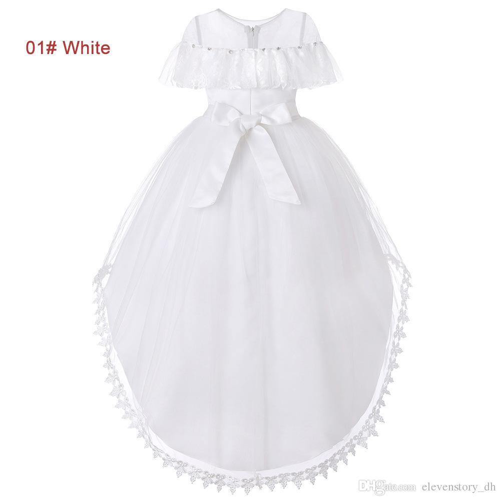 e7a2470cc Girls 4 to 10 Years Asymmetrical Rhinestone Tulle Summer Dress,  White/pink/red/purple/green, Kids & Teenager Boutique Clothes, 5AAX808DS-05  Ball Show Summer ...
