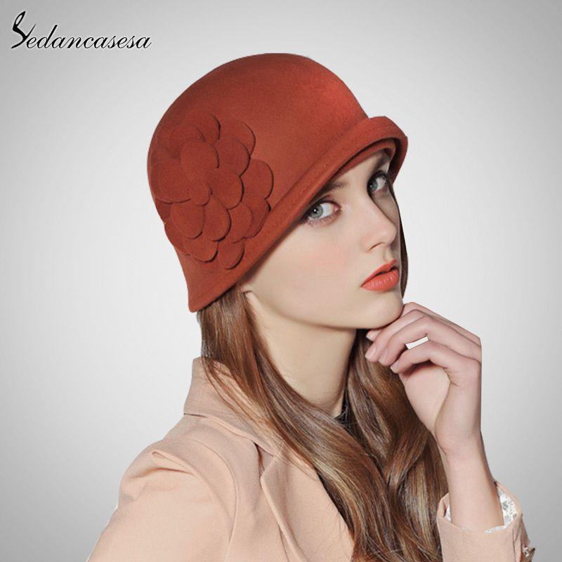 0969fcbfdc8 Sedancasesa Female Cloche Hat Winter Australia Wool Vintage French Bowler  Sombrero Hats Fedora Wool Hat For Women FW132002 D19011102 Bailey Hats  Scrub Hats ...