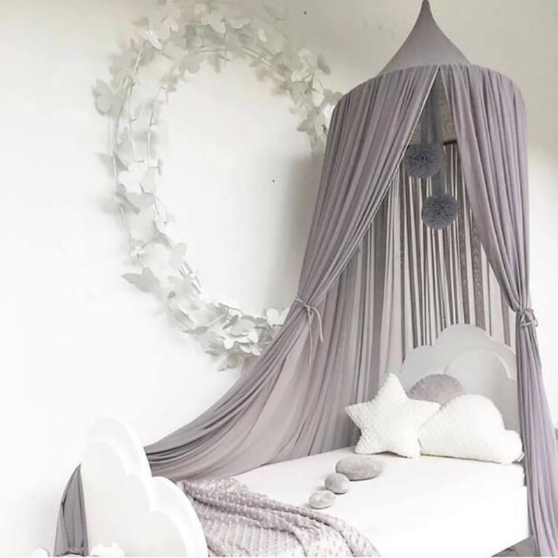 Nordic Chiffon Mosquito Net Hanging Dome Princess Bed Canopy Ins Style Kids Playing Tent For Nursery Kids Room Decoration