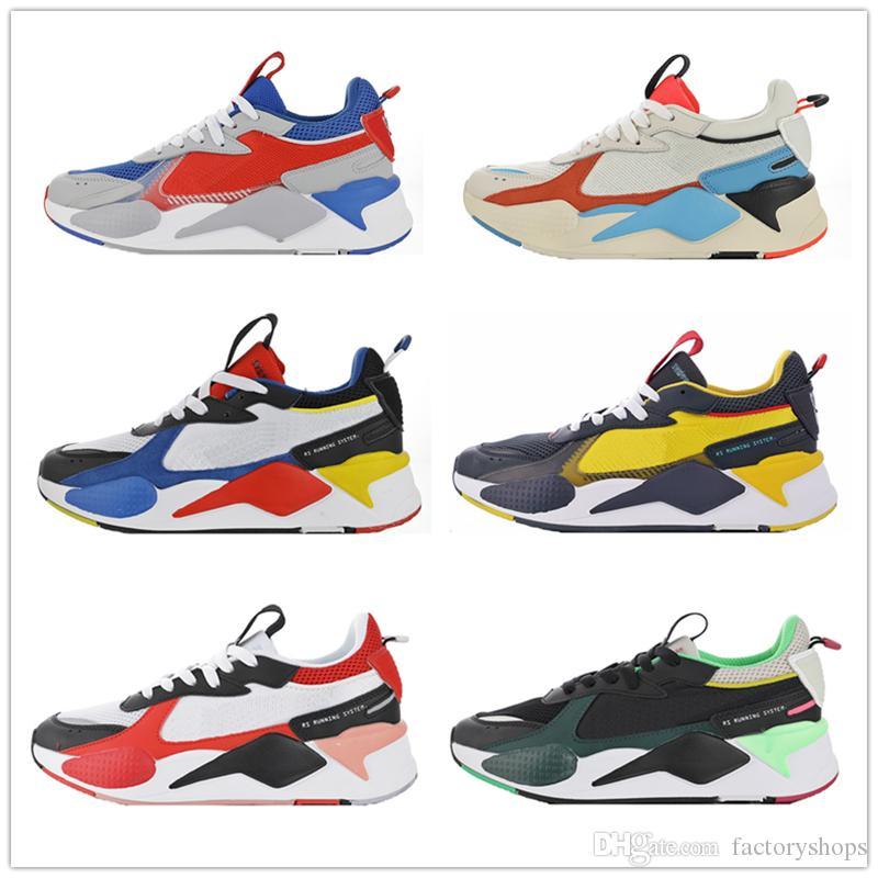 Nuovo arrivo 2019 RS X giocattoli scarpe da corsa di rilascio, uomo donna di alta qualità RS X scarpe da tennis di reinvenzione sneakers scarpe da