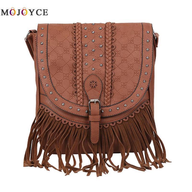 Designer Fringe Tassel Flap Small Shoulder Bag Women Messenger Crossbody Bag  PU Leather Vintage Handbag Bag For Women 2019 Leather Briefcase Wholesale  ... 58873012fc436