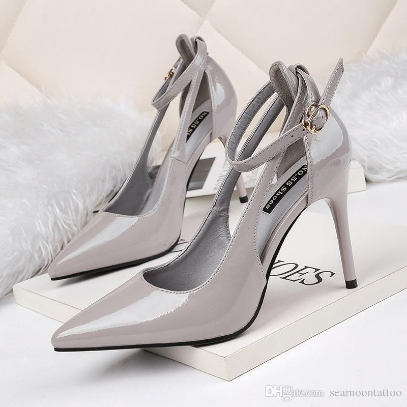 460d9912af8d3 2018940 Frauen hochhackige Schuhe 9,5 cm hohe Qualität Frauen Sandalen  Schuhe Mode Schuhe