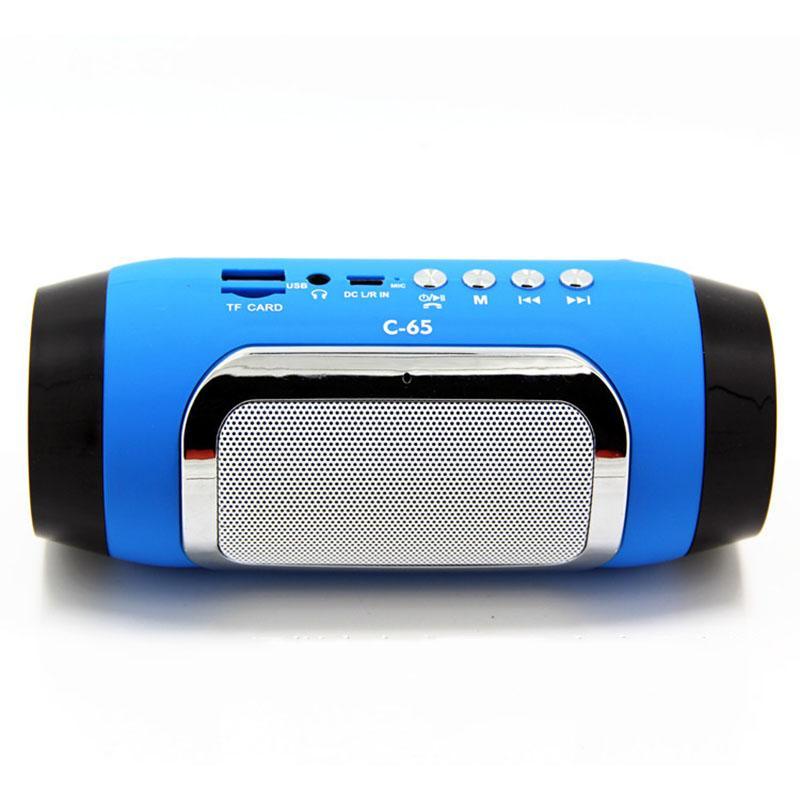 C65 Wireless Bluetooth HIFI Portable Speaker Stereo Soundbar Loudspeakers  TF FM Radio Music Subwoofer Column Dual Horn Speakers
