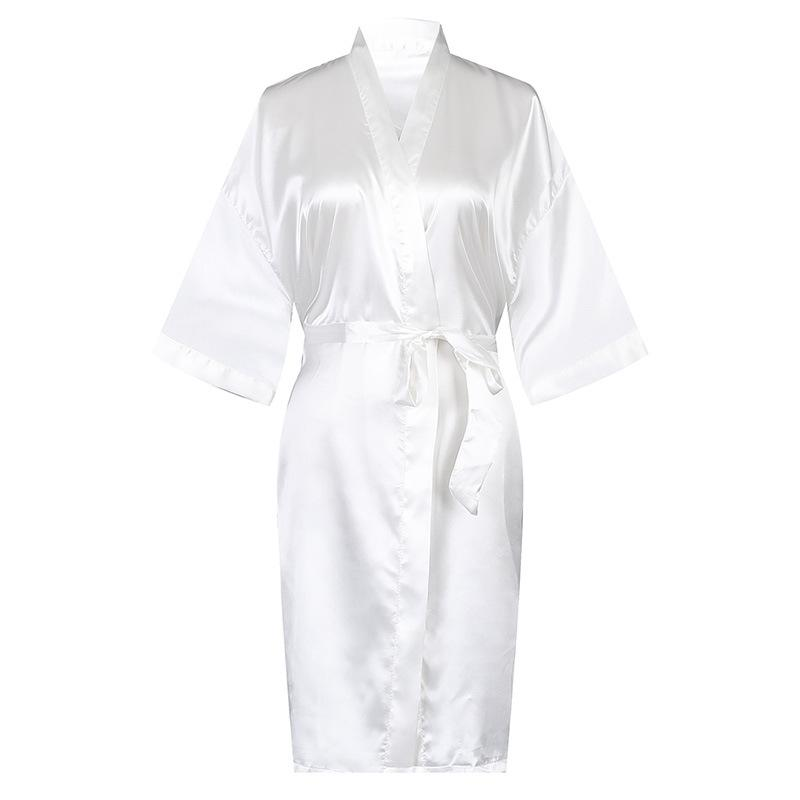 White Dress Rayon Robe Women's Pajamas Sexy Bathrobe Dressing Gowns For Women Bride Bridesmaid Wedding Robes Sexy Sleepwear