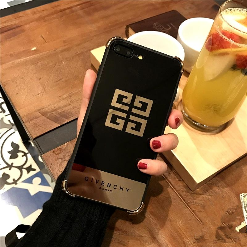 GV Designer-Handyhülle mit Logo für IPhoneX IPhone7 / 8plus IPhone7 / 8 IPhone6 ​​/ 6s IPhone6 ​​/ 6sPlus Golden Black Luxury Iphone Case