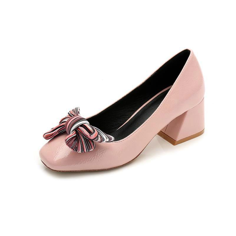 Chaussures Nouvelle 5 Chaussure Talons Mode Tête Verni Hauts Cuir 5cm Rose Gros 2019 Dame En Noir Femme Pompes Y6vg7bfy