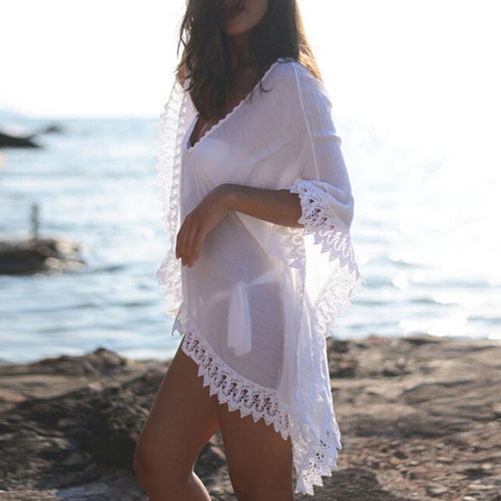 92d6ccb224 2019 Chiffon Bikini Cover Up 2018 Sexy Women Beachwear Summer Kaftan ...