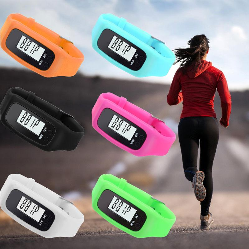 Digital LCD Display Silicone Pedometer Run Step Walking Running Distance Calorie Counter Wrist Women & Men Sport Watch Bracelet