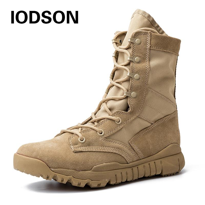 ce4c18ee4f0 Outdoor Men S Combat Tactical Boots Special Force Army Work Shoes Desert  Ankle Footwear Womens Shoes Hiking Boots From Pinkfrog