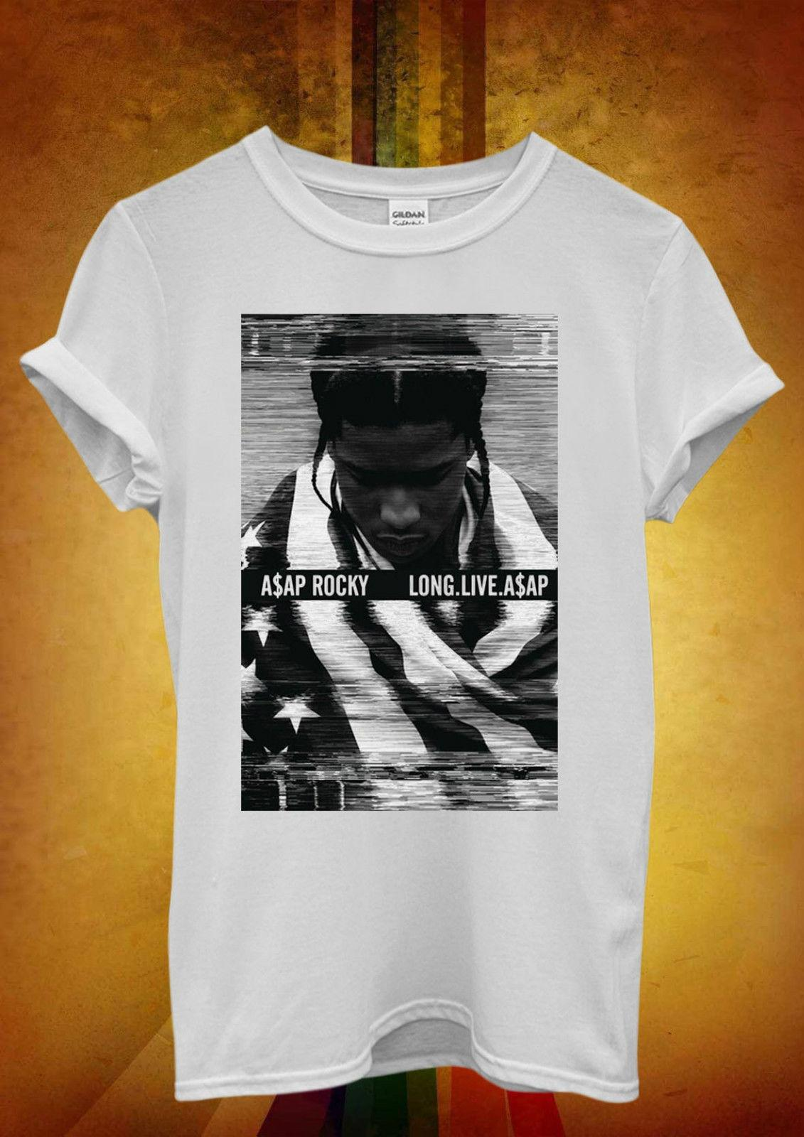 ASAP Rocky Long Live Funny Hipster Cool Men Women Unisex T Shirt Tank Top  Vest 2 Funny free shipping Unisex Casual Tshirt top