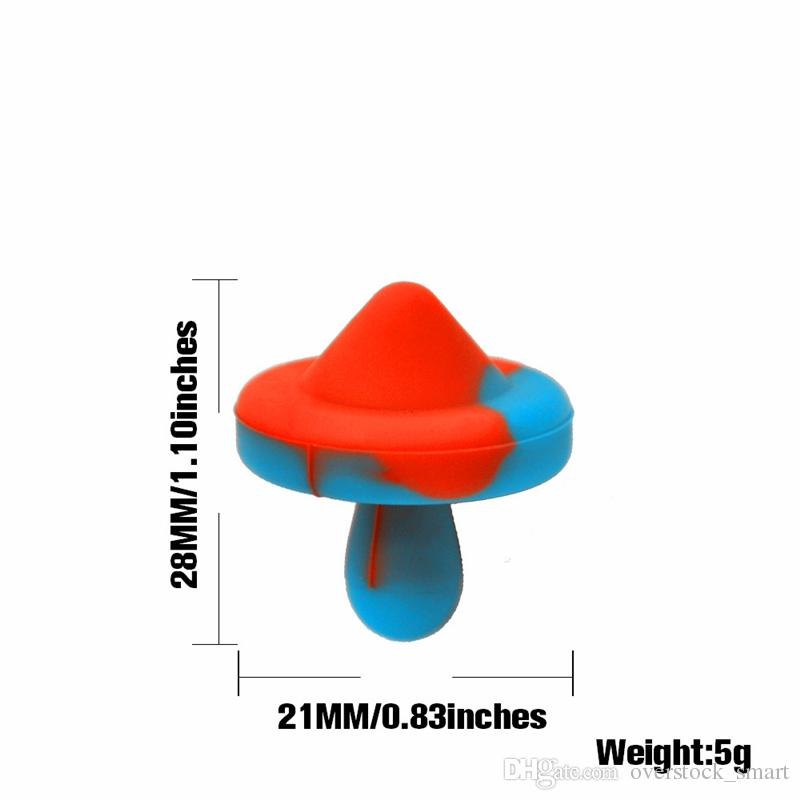 Silicone Carb Cap Universal Colored cap Dome for glass water pipes, dab oil rigs, quartz banger nails UFO Cap for Smoking Accessories