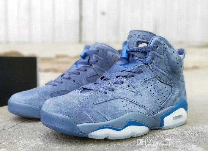 new product 4f6a5 8c307 2019 new 6 Retro Diffused Blue Jimmy Butler PE VI men basketball shoes high  quality 6s Diffused Blue mens sprots sneakers