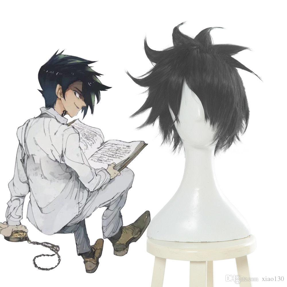 The Promised Neverland Ray Short Black Straight Hair Mens Cosplay Wig Anime Wigs
