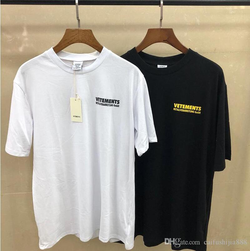 High Quality Vetements Tshirt Hip Hop metallic Design T Shirts Men Women Clothes Casual Cotton Tee Top S-XL