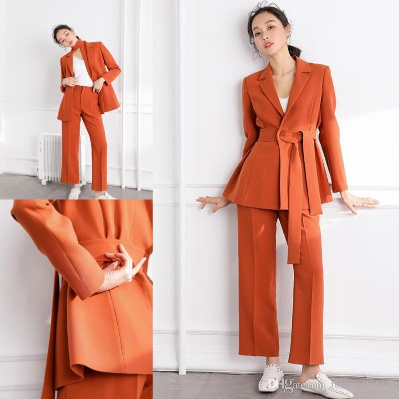 5bc1e8ec6bb4 New Modern Orange Two Pieces Mother Of The Bride Pant Suits Jacket+Pants  Wedding Plus Size Mother Dresses Joan Rivers Suit Mathar Son From  Foreverbridal