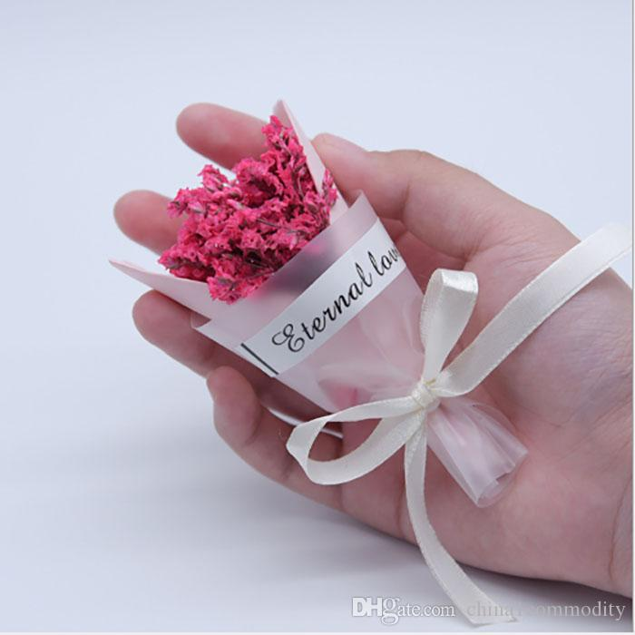 small bouquet artificial flowers gift box decoration wedding favors party gifts birthday wedding party decorations Cute little flower