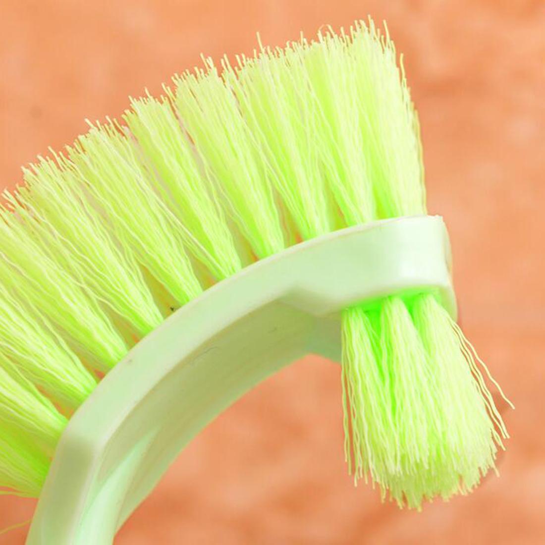 Spazzola igienica portatile calda Maniglia lunga in plastica Bagno sciacquone Scrub Spazzola di pulizia a doppia faccia