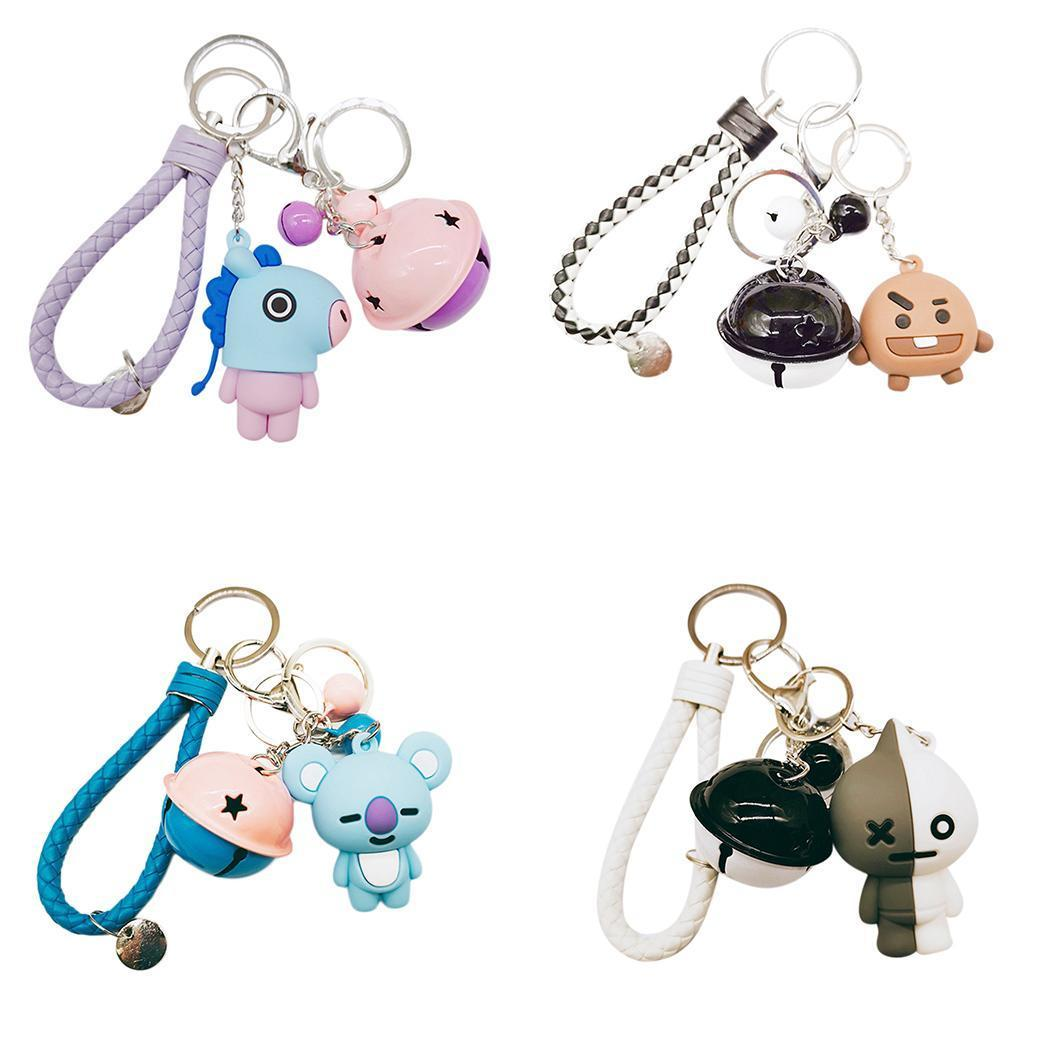 Fashion Cute Animal Shape Bell Key Chain Bag Decoration Keyring Holder Fashion New Key Chain