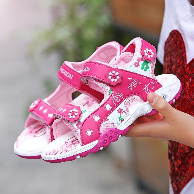 8b19967c43b05 2018 Summer Children Beach Sandals Fashion Shoes For Girls Casual Princess  Shoes Baby Footwear Kids Non Slip Sandalias Kid Shos Baby Girl Dress Shoes  From ...