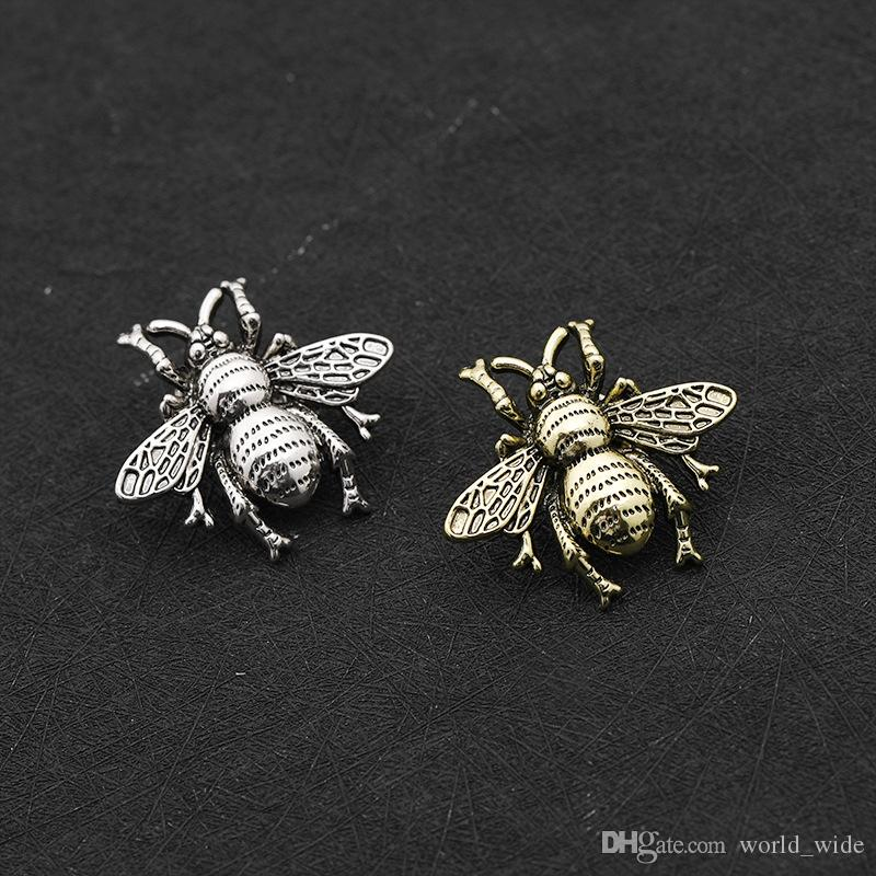 Small bee brooch pins for men women Exquisite Retro Cute Bee Insect Brooch Broach Needle Party Accessories Jewelry