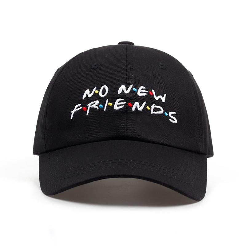 67578583523f5 2018 No New Friends Embroidery Dad Hat Men Women Trending Rare ...