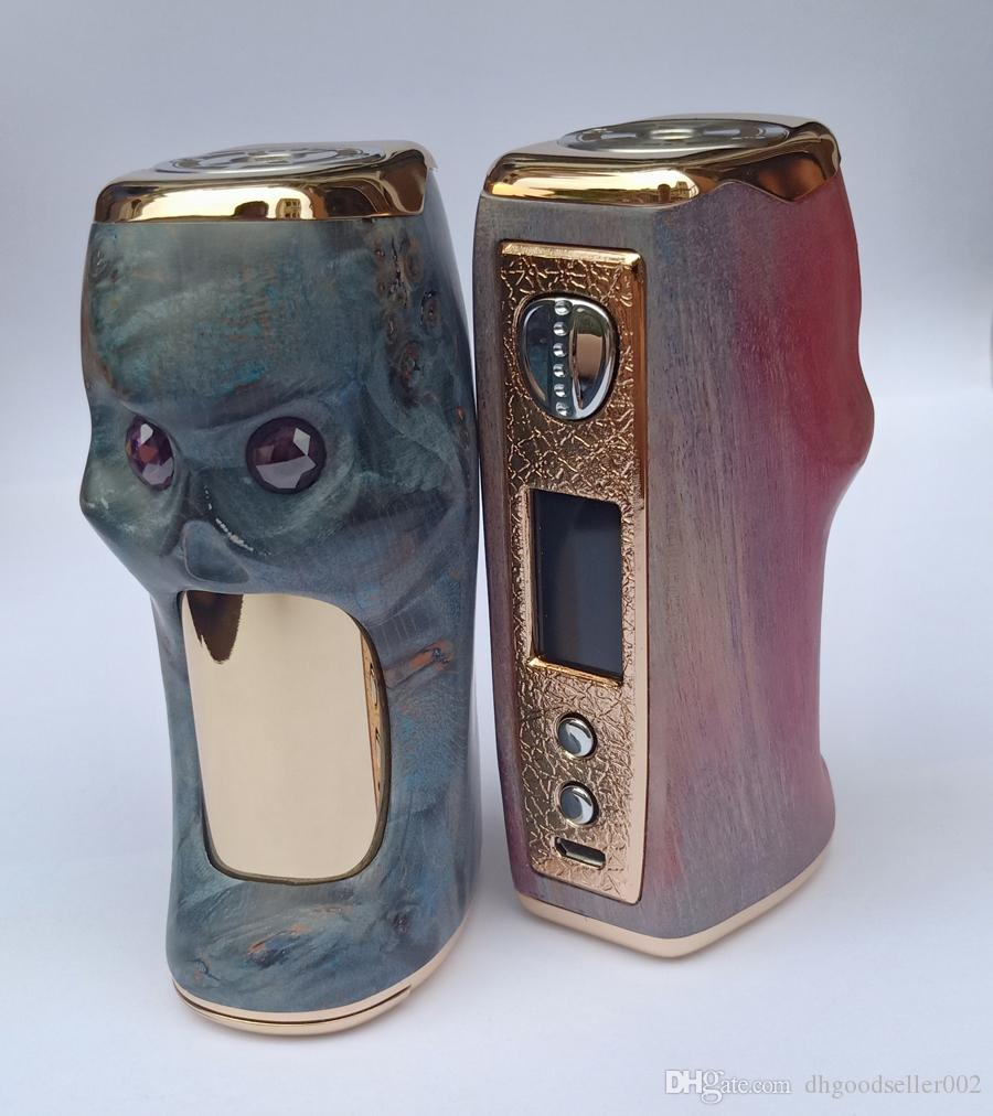 vape mods stabwood e cigarette vape box mod xovapor stabwood skull 100w  with colorful display screen power range 10w -100w variable voltage