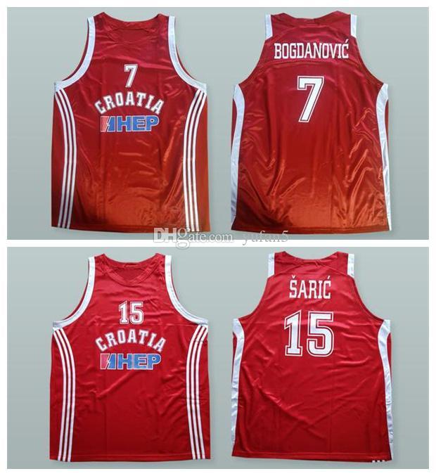 8cc4e0cfb405 2019 Team Croatia Bojan Bogdanovic  7 Dario Saric  15 Retro Basketball  Jersey Mens Stitched Custom Any Number Name Jerseys From Yufan5