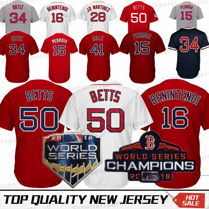 2019 Boston Red Sox 50 Mookie Betts Jersey 15 Dustin Pedroia 9 Ted Williams  16 Andrew 28 J D Martinez J.D. 34 Baseball Jerseys 100% Stitched From ... 1fe4b2aee