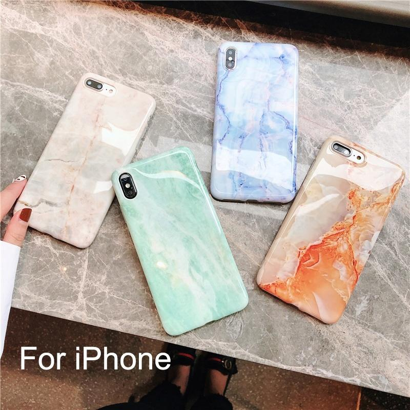 Custodia in silicone di lusso in marmo per iPhone XS Max X XR 7 8 6 6S Plus Custodia morbida in TPU cover posteriore per iPhone 8 7 Plus iPhone X / XS max