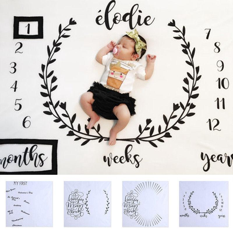Children blankets Infant Baby Milestone Blanket Photo Photography Prop Letter Backdrop Cloth To Take Pictures Home Photo Tools