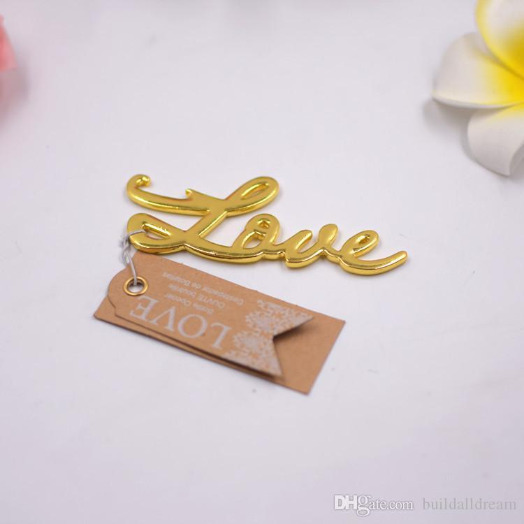 Wholesale Birthday Gifts for Husband Love Antique Gold/Silver Beer Bottle Opener for Wedding Favors W7450 20180920#