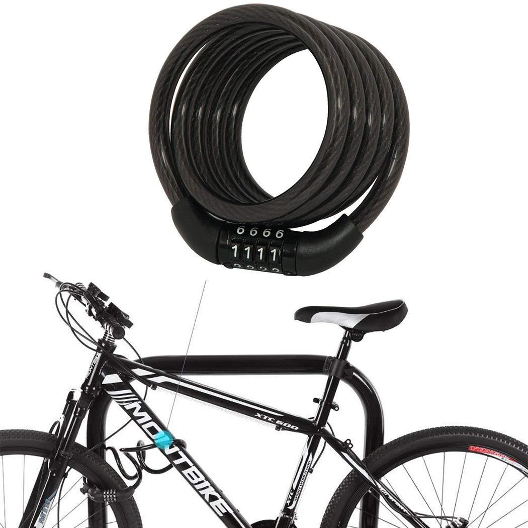 Code Password Bike Combination Lock Bike Cable Lock Tough Security Coded Steel Wiring Bicycle Safety Lock newest